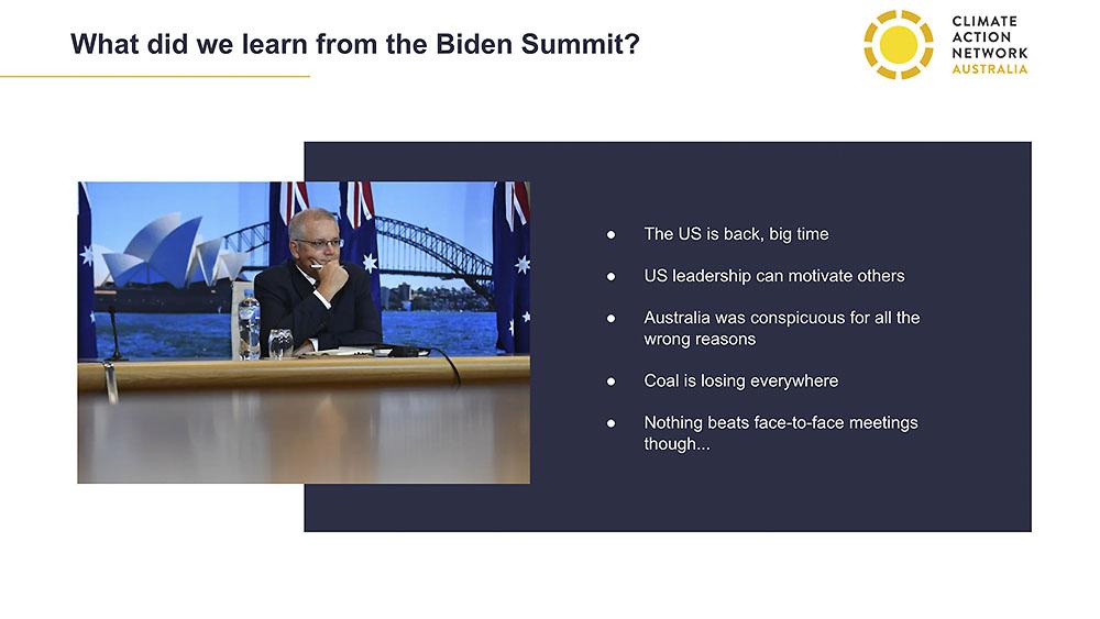 Glen Klatovsky slides Targets and Tariffs Event Biden Summit