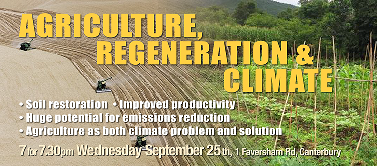 Agriculture, Regeneration and Climate – 25th September