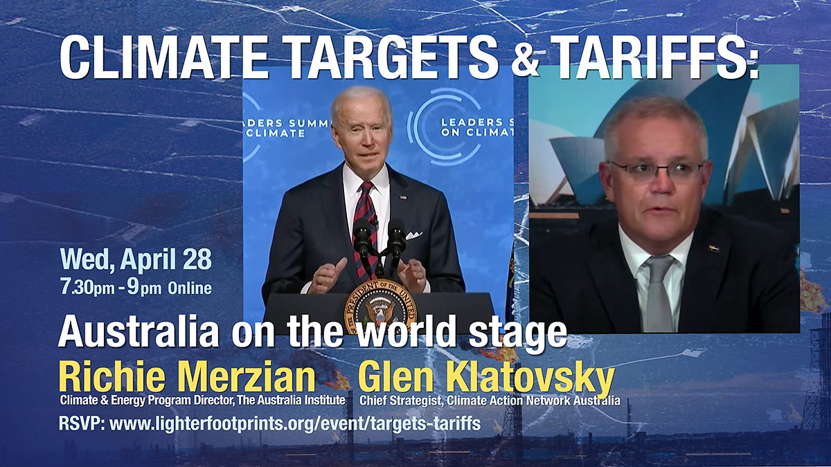 Climate Targets and Tariffs Event Australia on the World Stage