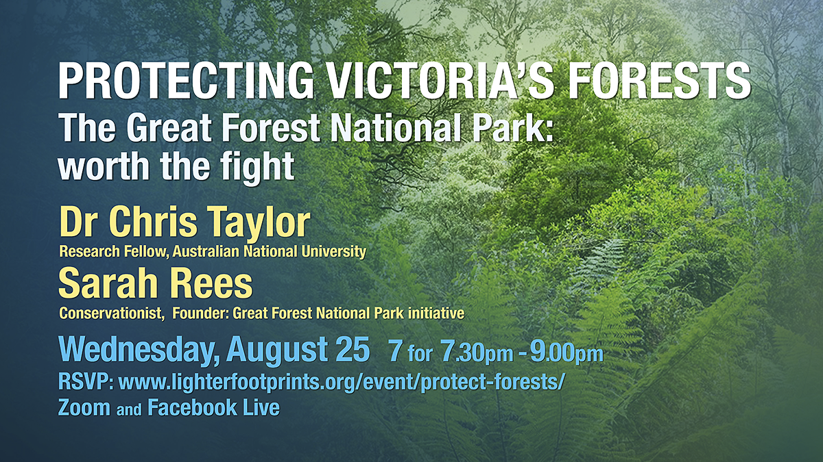 August 25 Protecting Victoria's Forests