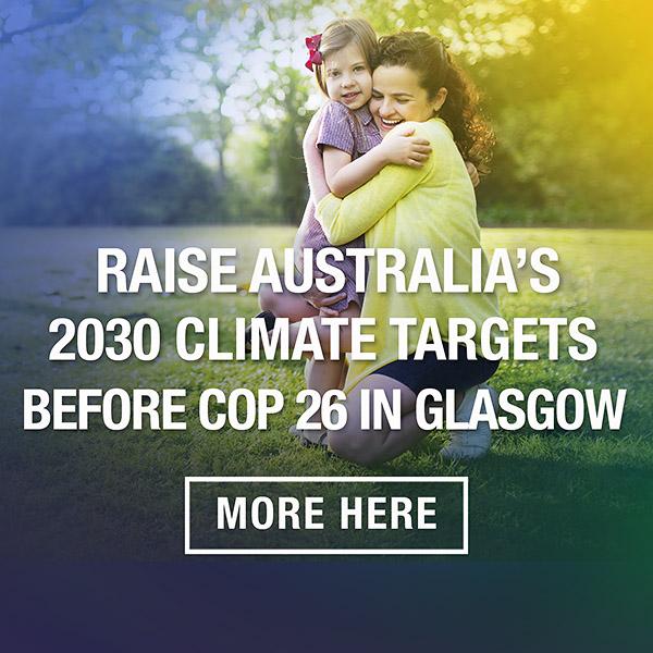 Raise Australian climate targets campaign