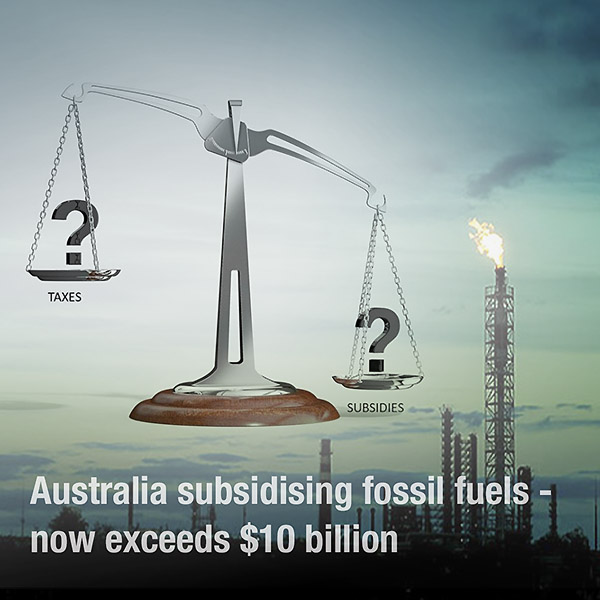 Fossil fuel subsidies in Australia exceed taxes received
