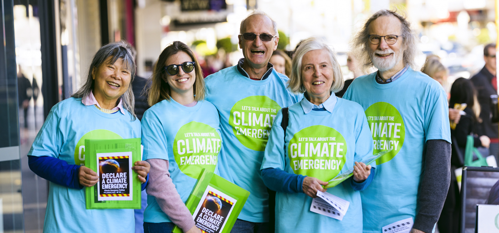 Climate Emergency Petition workers
