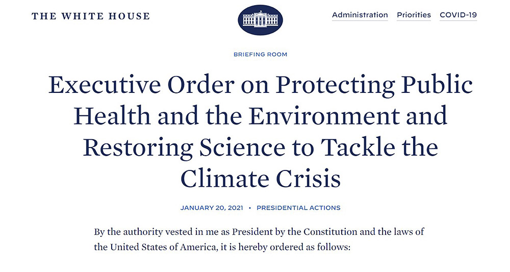 President Executive Order on Climate