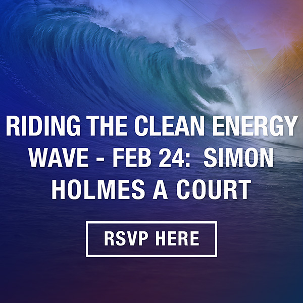 Lighter Footprints Sion Holmes a Court event Riding the Clean energy wave Feb 24
