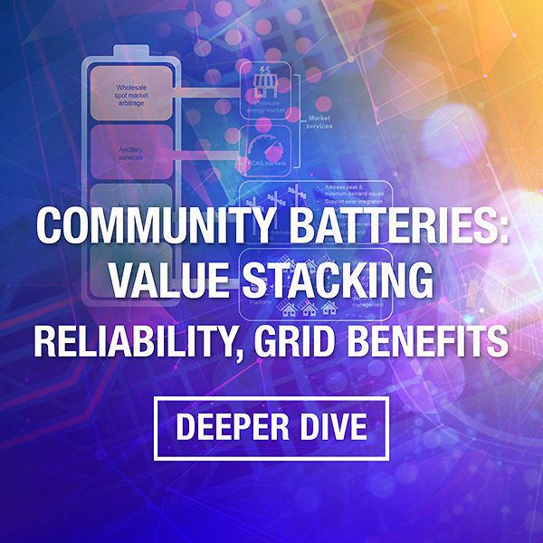 Community Batteries Value Stacking, Reliability and Network Benefits