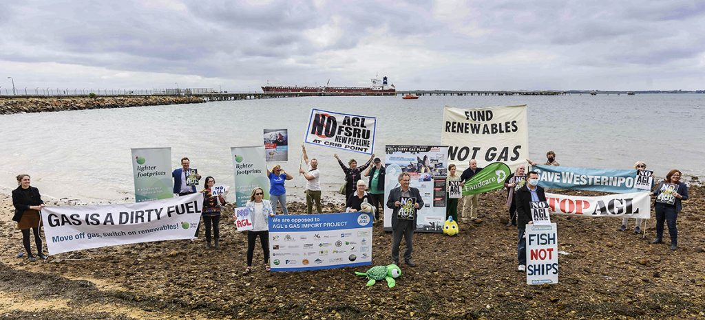 Community action against Crib Point terminal at Woolleys Beach with Save Westernport