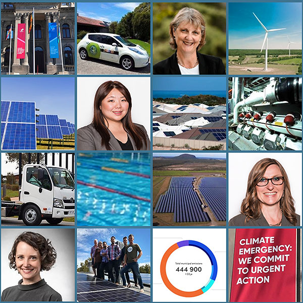 Hannah Snape, Cr Amanda Stone, Cr Tina Liu and Cr Prue Cutts – Councils stepping up on climate