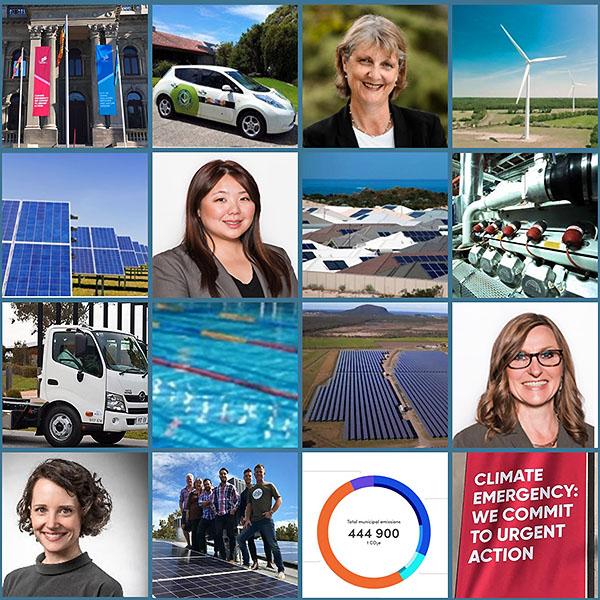 Hannah Snape, Cr Amanda Stone, Cr Tina Liu and Cr Prue Cutts – Councils stepping up on climate