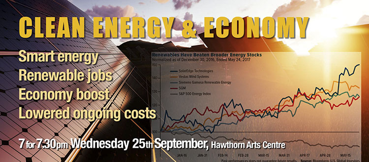 Clean Energy and Economy – 25th September, Hawthorn Arts Centre