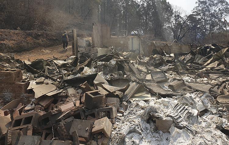 Family home destroyed Australian bushfires