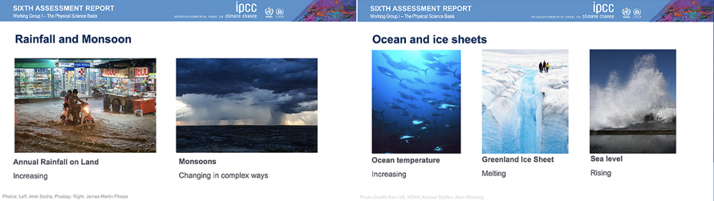 IPCC Sixth Assessment Report Increasing Rainfall, Monsoons, Warming Ocean and Melting Icesheets