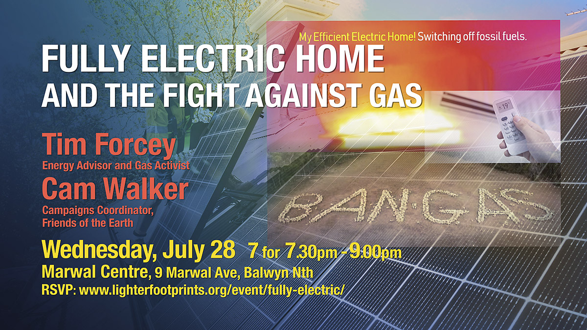 Lighter Footprints Fully Electric Home and the Fight Against Gas July event