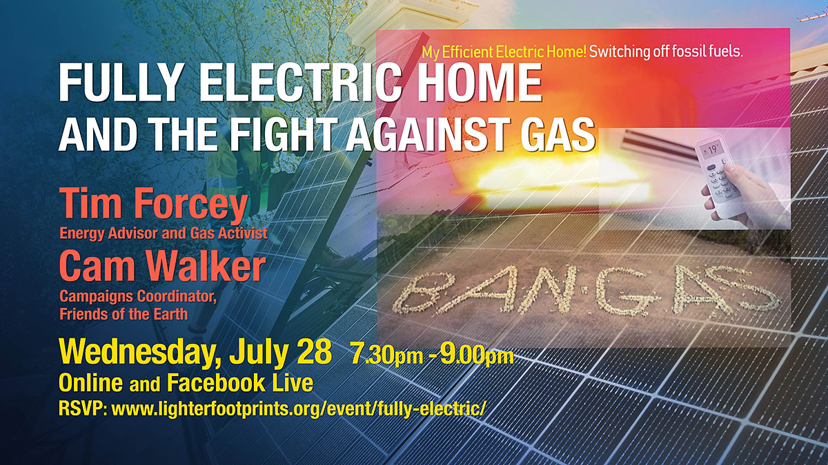July Fully Electric Home and the fight against gas online event