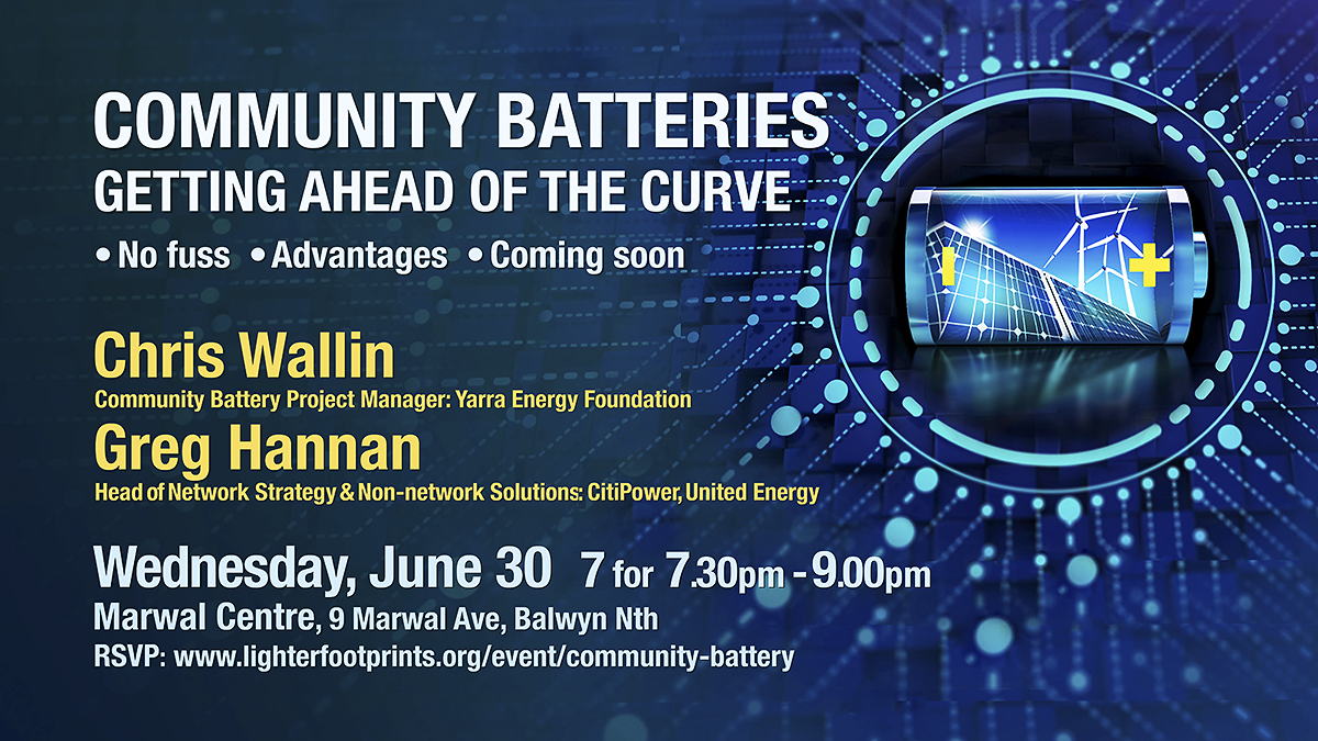 Community Batteries - Getting ahead of the curve June 30