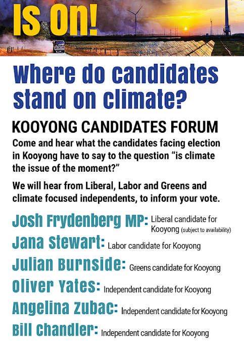 Kooyong Candidates Forum April11