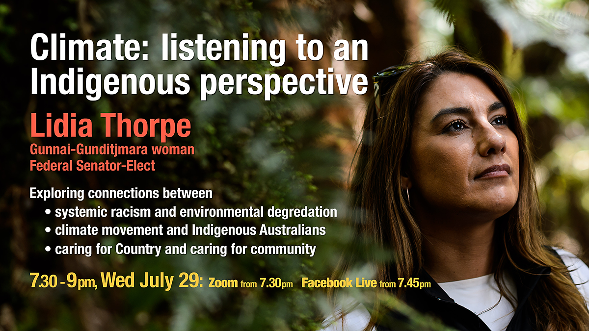 Lidia Thorpe Climate Indigenous Perspective event