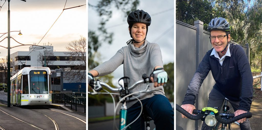 Local climate action includes support for public and active transport