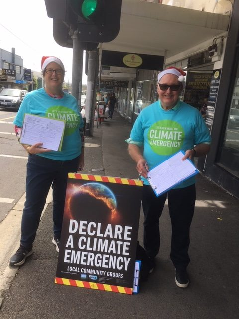 Petitioning for a Climate Emergency Declaration in Boroondara