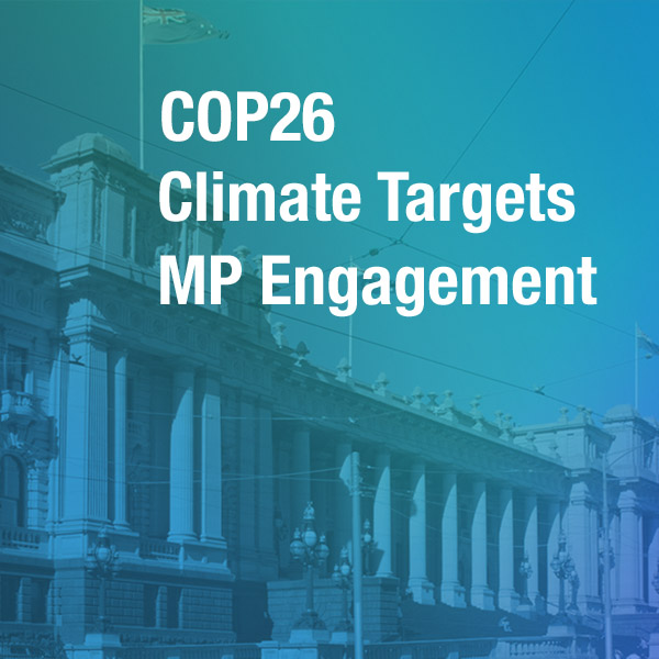 Lobbying for Australia to step up at COP 26