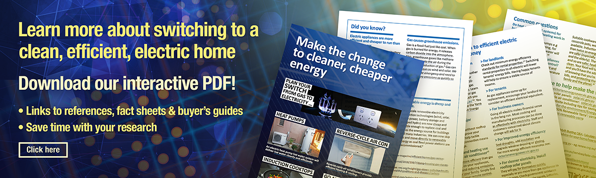 Making the switch brochure interactive pdf on efficient clean electric appliances