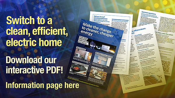 Making the switch to clean electric appliances interactive brochure information page