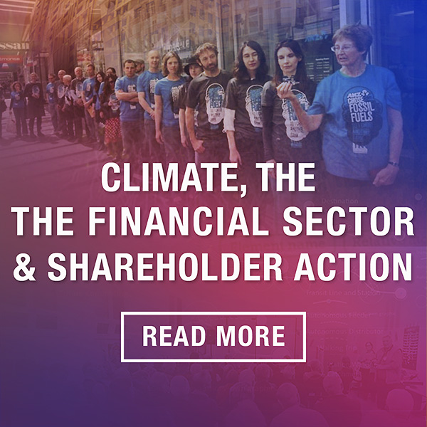 Climate, the Financial Sector and Shareholder Action - Market Forces blog