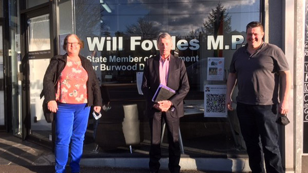Meeting with Will Fowles MP