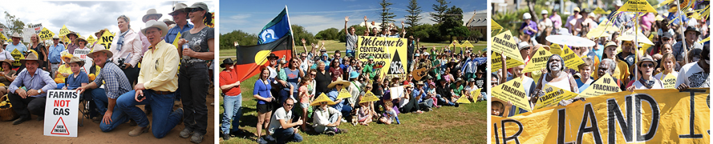 National gas campaigns images from Lock the Gate