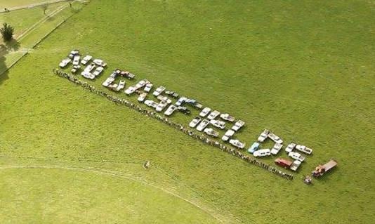 Sea Spray tractor sign Victorian Gas Ban