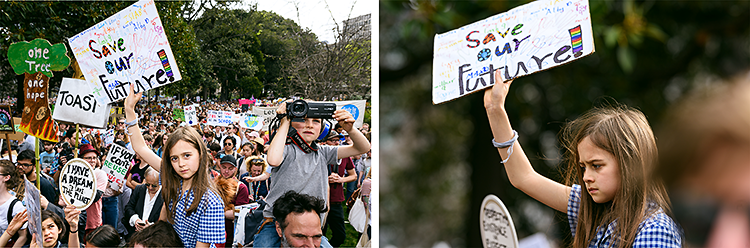 Save my Future - poignant climate strike signs