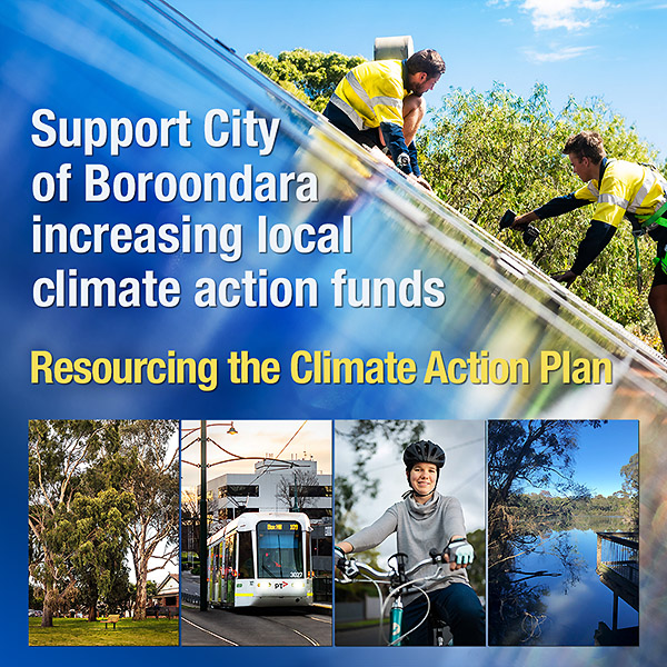 Helping to resource Boroondara's Climate Action Plan