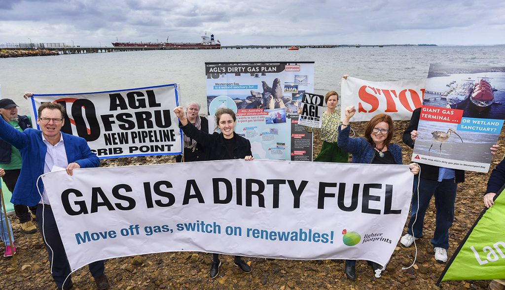 Supporting No AGL gas terminal action at Woolleys Point