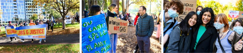 Union and political support climate strike