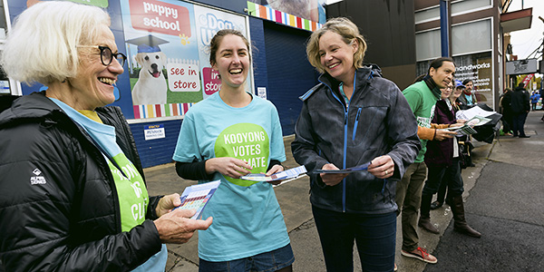 Vounteering at Prepoll with Kooyong Votes Climate