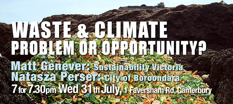 Waste and Climate: Problem or Opportunity – 31st July, 1 Faversham Rd, Canterbury