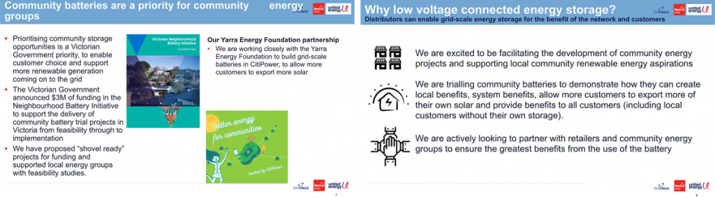 Working with community on batteries